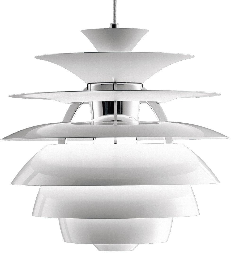 Luminaire - Suspensions - Suspension PH Snowball - Louis Poulsen - Blanc - Aluminium