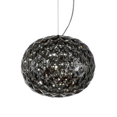 Luminaire - Suspensions - Suspension Planet / LED - Ø 33 cm - Kartell - Gris fumé - Technopolymère thermoplastique