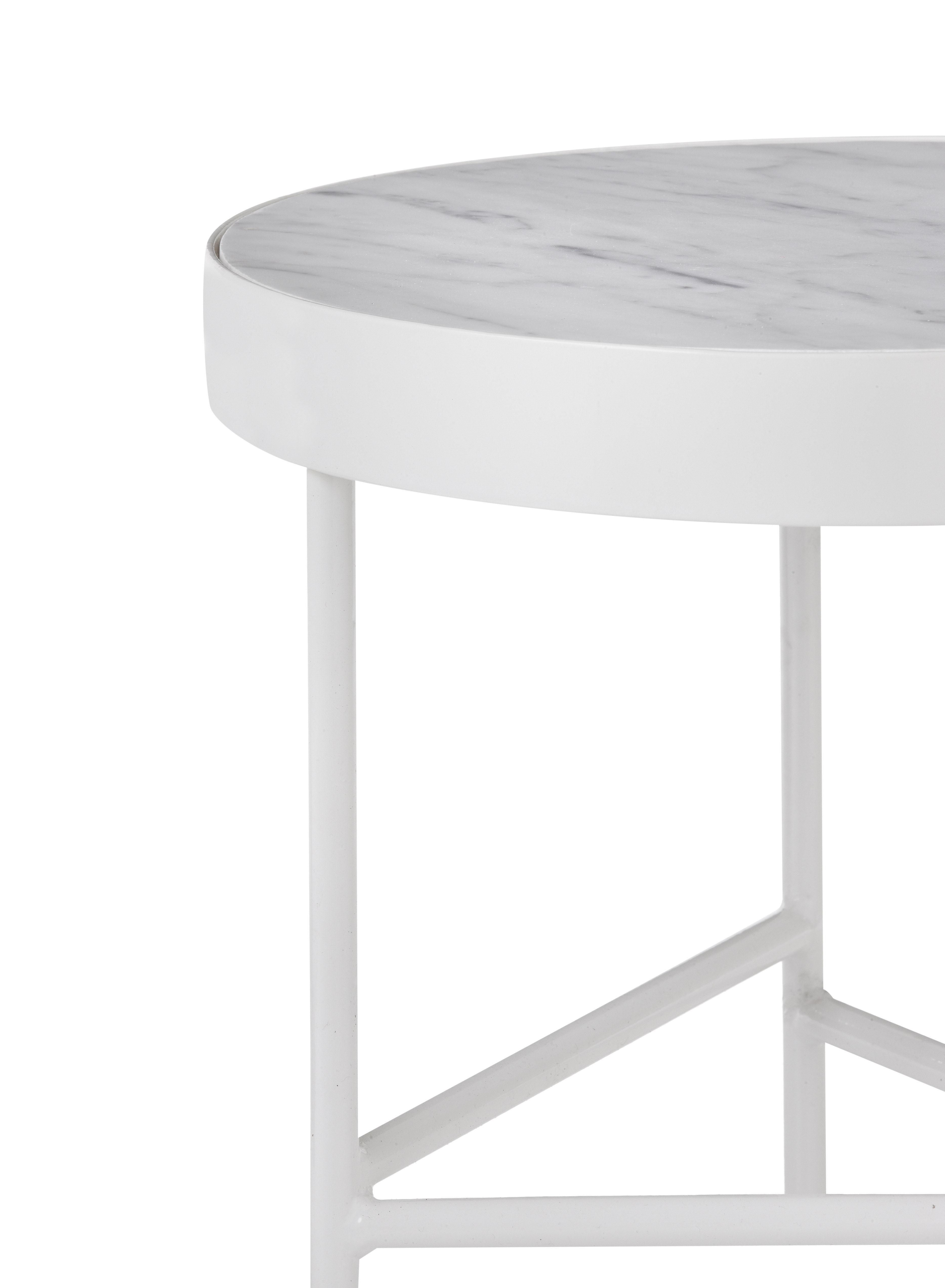 table d 39 appoint marble medium 40 x h 45 cm marbre blanc ferm living made in design. Black Bedroom Furniture Sets. Home Design Ideas