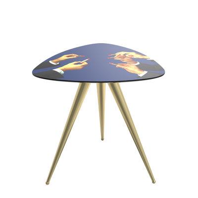 Table d'appoint Toiletpaper - Lipsticks / 57 x 57 x H 48 cm - Seletti multicolore en bois