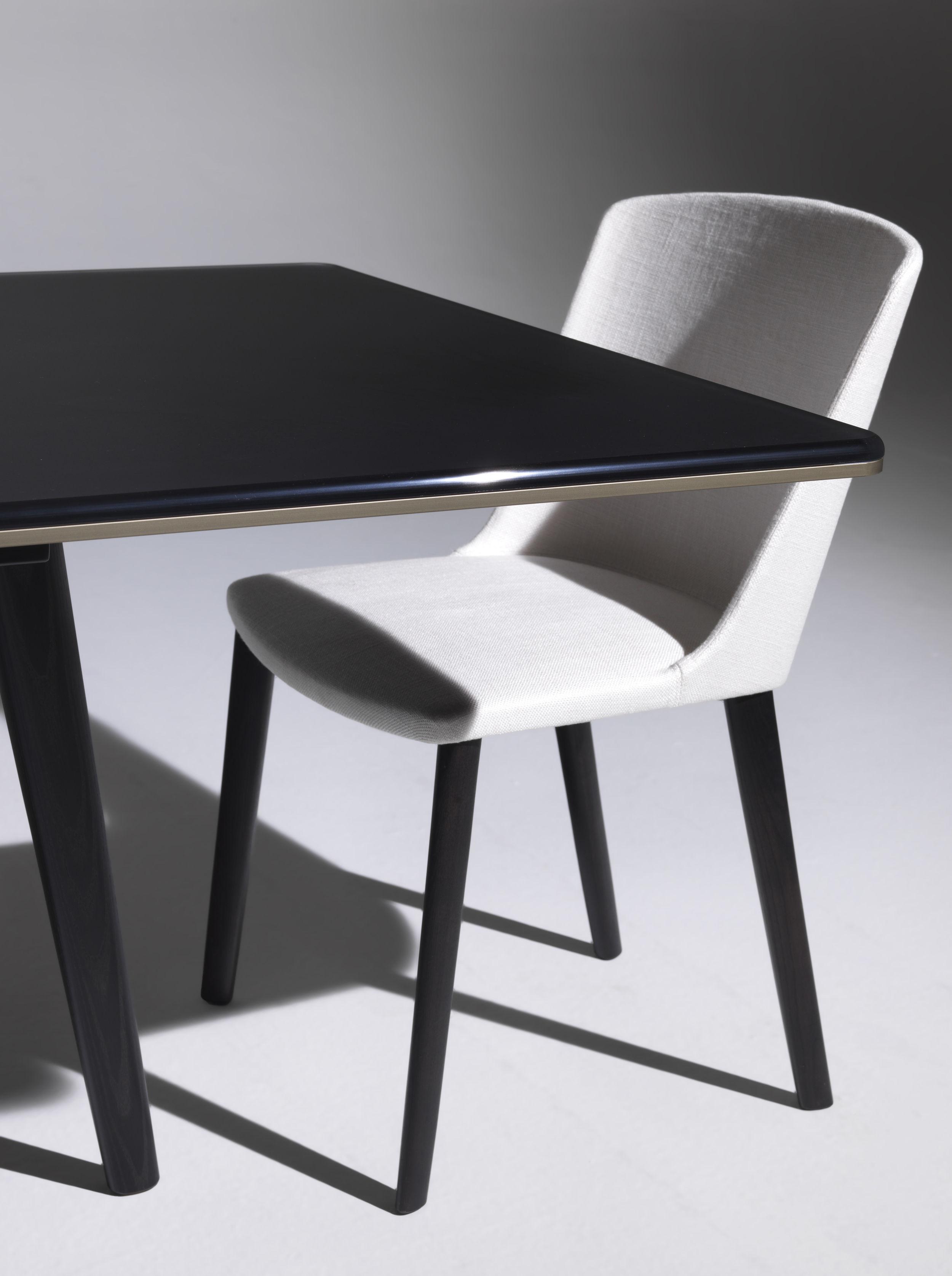 Tavolo François Driade - Vetro nero / Base nera - L 210 x h 72 ...