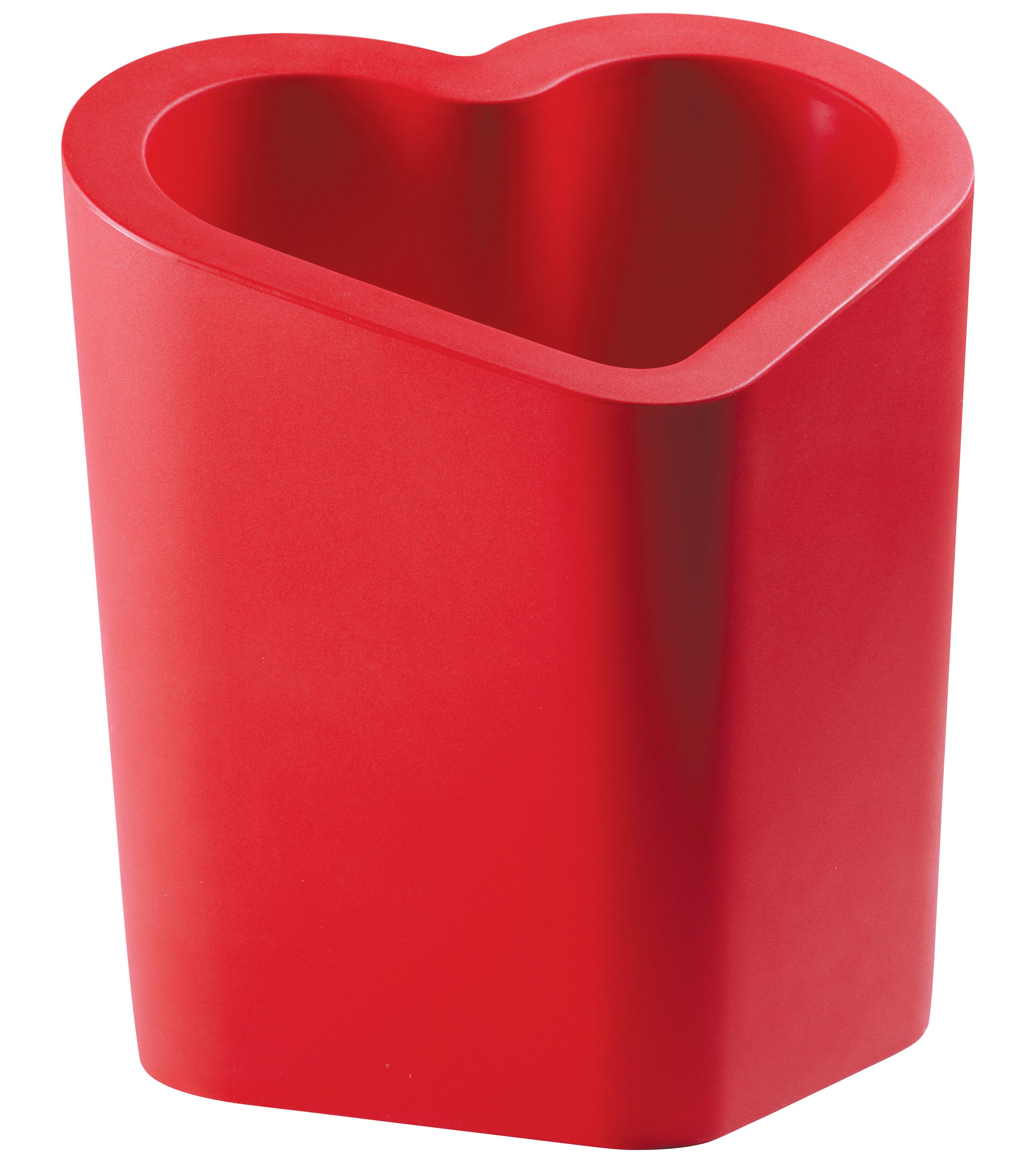 Outdoor - Vasi e Piante - Vaso per fiori Mon Amour di Slide - Rosso - polyéthène recyclable