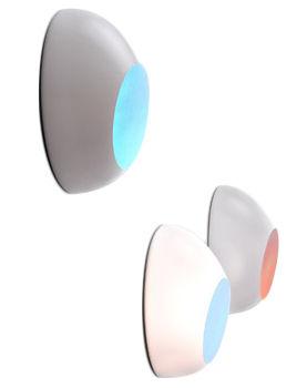 Leuchten - Wandleuchten - Goggle Wandleuchte - Luceplan - Weiß - irisierende Folie - Polykarbonat