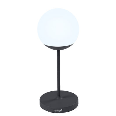 Lighting - Table Lamps - Mooon! Wireless lamp - / H 63 cm - Bluetooth by Fermob - Carbon - Aluminium, Polythene