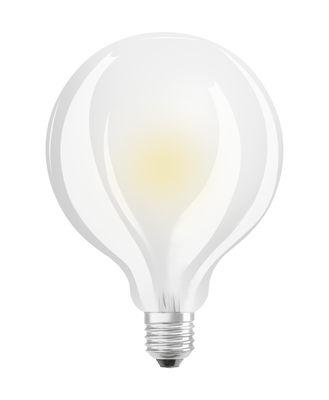 Ampoule LED E27 / Globe dépoli 9,5 cm - 11W=100W (2700K, blanc chaud) - Osram blanc en verre
