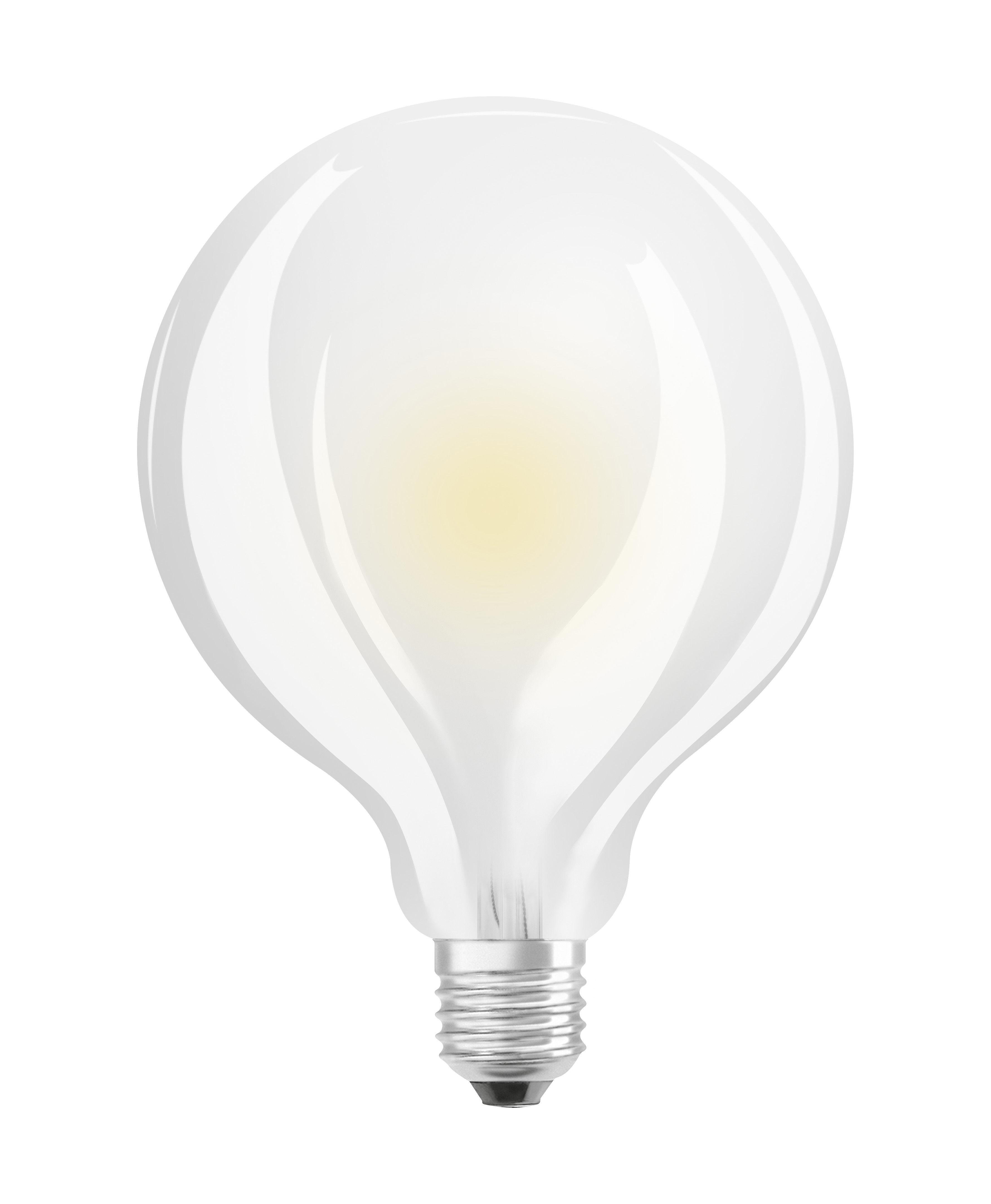 Luminaire - Ampoules et accessoires - Ampoule LED E27 / Globe dépoli 9,5 cm - 11W=100W (2700K, blanc chaud) - Osram - 11W=100W - Verre