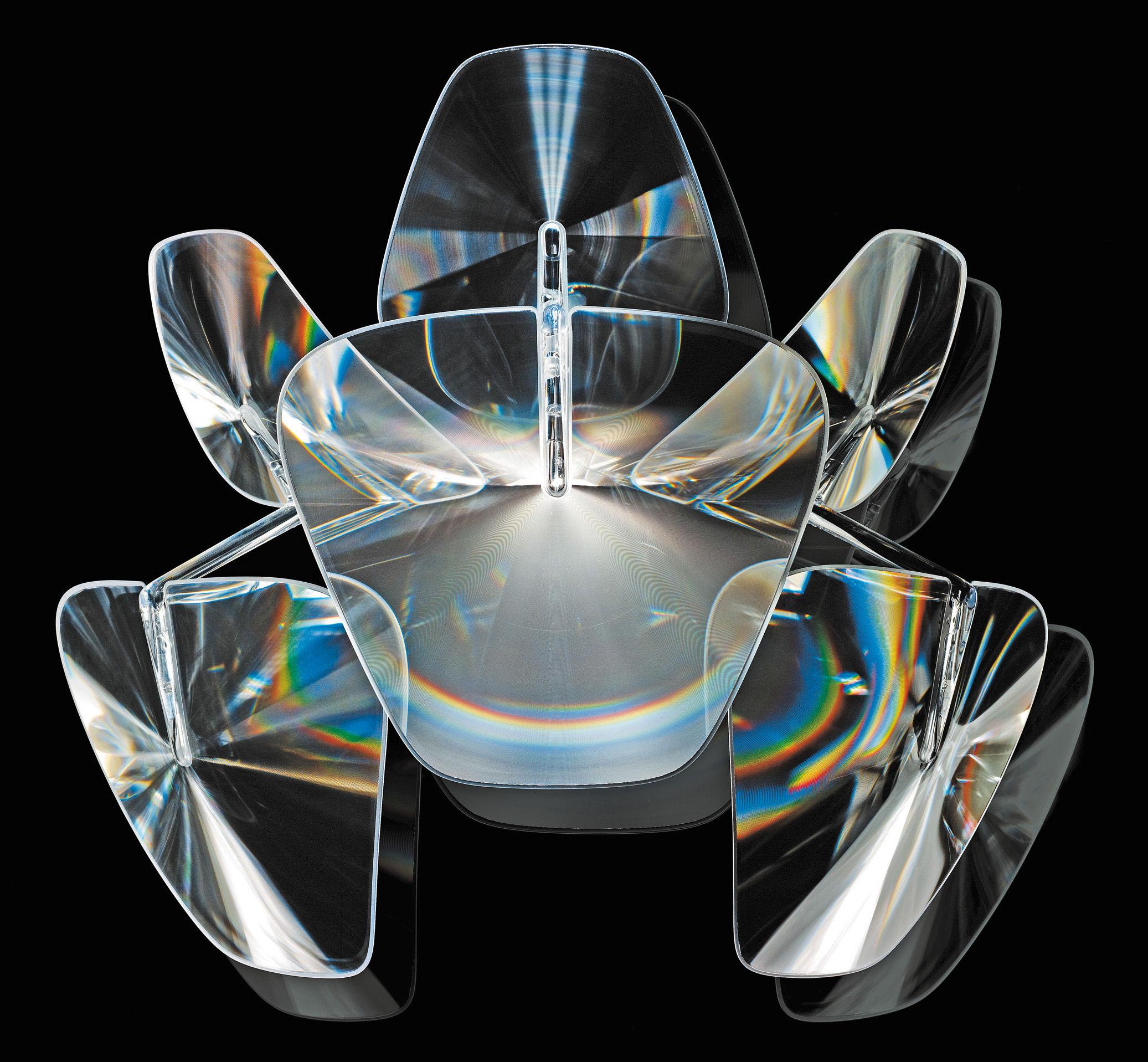 Luminaire - Appliques - Applique Hope - Luceplan - Transparent - L 46 cm - Acier inoxydable poli, Polycarbonate