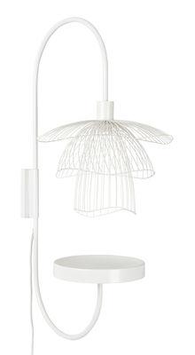 Luminaire - Appliques - Applique Papillon / H 75 cm - Tablette - Forestier - Blanc - Acier thermolaqué
