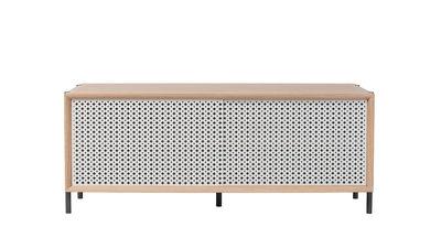 Buffet Gabin / Meuble TV - L 122 cm - Chêne & métal - Hartô gris clair,chêne naturel en métal