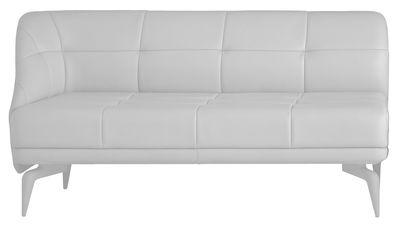 canap droit leeon accoudoir droite 2 places l 163 cm accoudoir droite cuir blanc. Black Bedroom Furniture Sets. Home Design Ideas