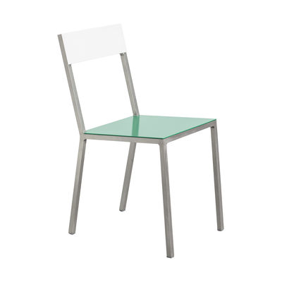 Furniture - Chairs - Alu Chair by valerie objects - Green seat / White backrest - Aluminium