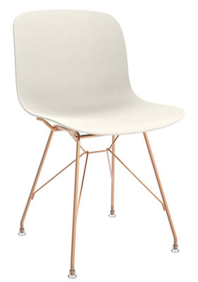 Furniture - Chairs - Troy Chair - Plastic & wire steel by Magis - White / Copper structure - Copper plated steel, Polypropylene