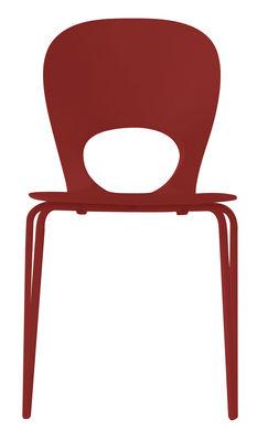 Chaise empilable Pikaia Plastique pieds métal Kristalia rouge en matière plastique