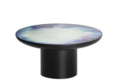 Furniture - Coffee Tables - Francis Large Coffee table - / Ø 75 x H 36 cm - Mirror by Petite Friture - Black / Coloured mirror - Coloured toughened safety glass, Painted steel