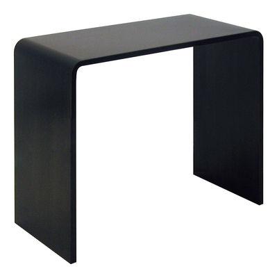 Console Solitaire / bureau - L 87 x Prof 42 x H 74 cm - Zeus noir en métal