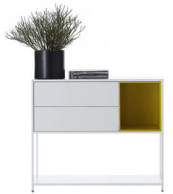 Furniture - Bookcases & Bookshelves - Minima Crate - / 2 drawers - W 60 cm by MDF Italia - White / W 60 cm - Wood fibre