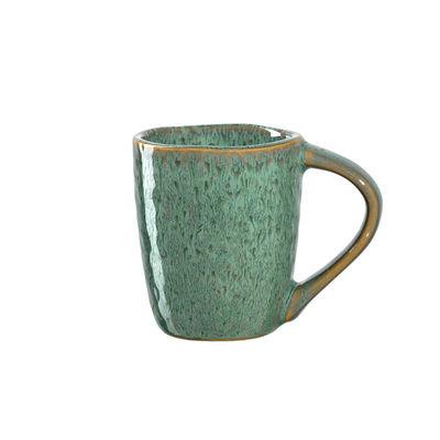 Tableware - Coffee Mugs & Tea Cups - Matera Espresso cup - / Sandstone - 90 ml by Leonardo - Green - Enamelled sandstone