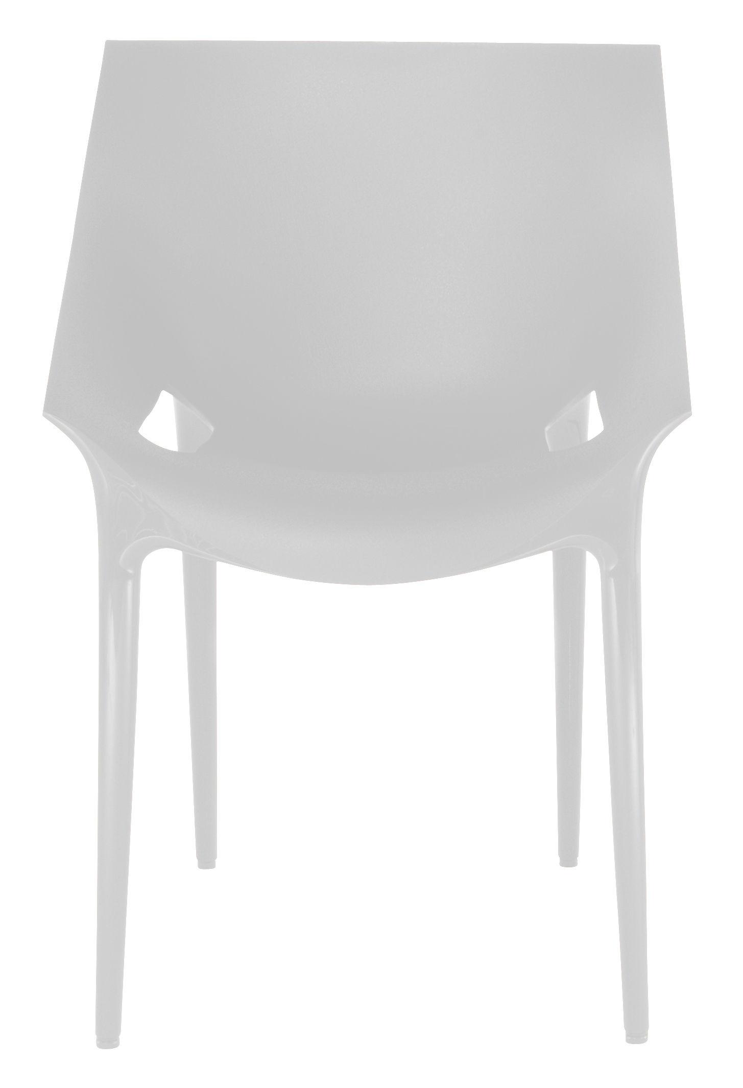Mobilier - Chaises, fauteuils de salle à manger - Fauteuil empilable Dr. YES / Polypropylène - Kartell - Blanc - Polypropylène