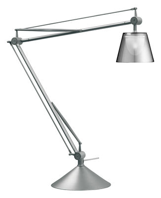 Luminaire - Lampes de table - Lampe de table Archimoon K / Version méthacrylate - Flos - Méthacrylate / Transparent - Aluminium, Méthacrylate