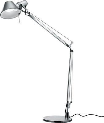 Lampe de table Tolomeo LED / Avec détecteur de présence - Artemide aluminium en métal