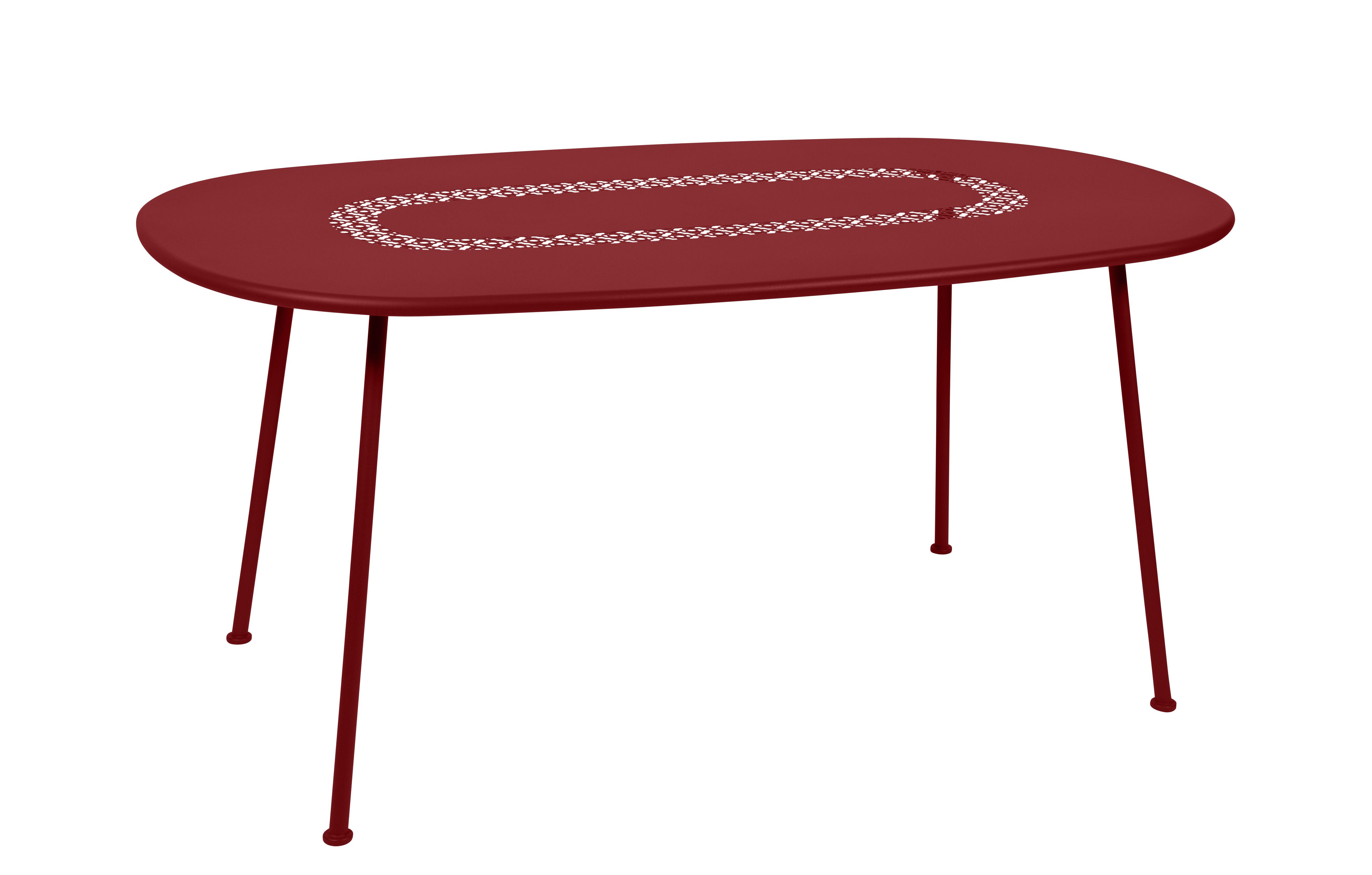 Outdoor - Tavoli  - Table ovale Lorette - / 160 x 90 cm - Metallo di Fermob - Pimento - Acciaio laccato
