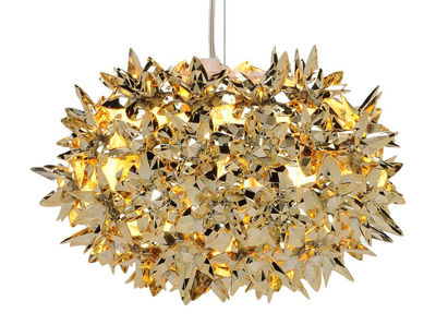 Lighting - Pendant Lighting - Bloom Bouquet Pendant by Kartell - Gold - Thermoplastic technopolymer