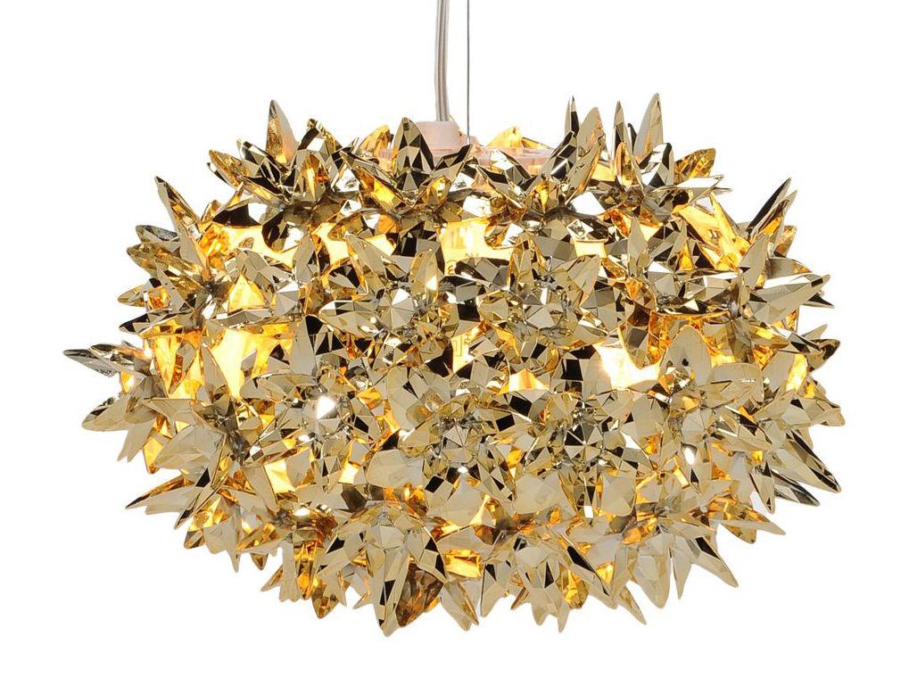 Leuchten - Pendelleuchten - Bloom Bouquet Pendelleuchte / S Ø 28 cm - metallic - Kartell - Goldfarben - Technopolymère thermoplastique