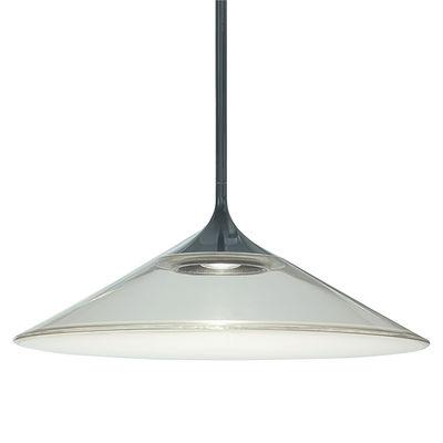 Orsa LED Pendelleuchte / Ø 35 cm - Glas - Artemide - Schwarz,Transparent