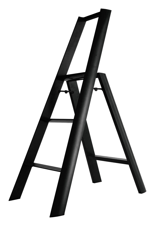 Arredamento - Complementi d'arredo - Scala Lucano - 3 scalini di L'atelier d'exercices - Nero - alluminio verniciato