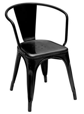 A56 Sessel lackierter Stahl - Tolix - Schwarz