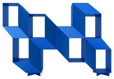 Furniture - Bookcases & Bookshelves - Rocky Shelf - L 140 x H 95 cm - Acier by La Chance - Blue - Lacquered steel