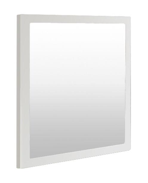 Arredamento - Specchi - Specchio murale Little Frame - 60 x 60 cm di Zeus - Bianco semi opaco - Tôle d'acier naturelle