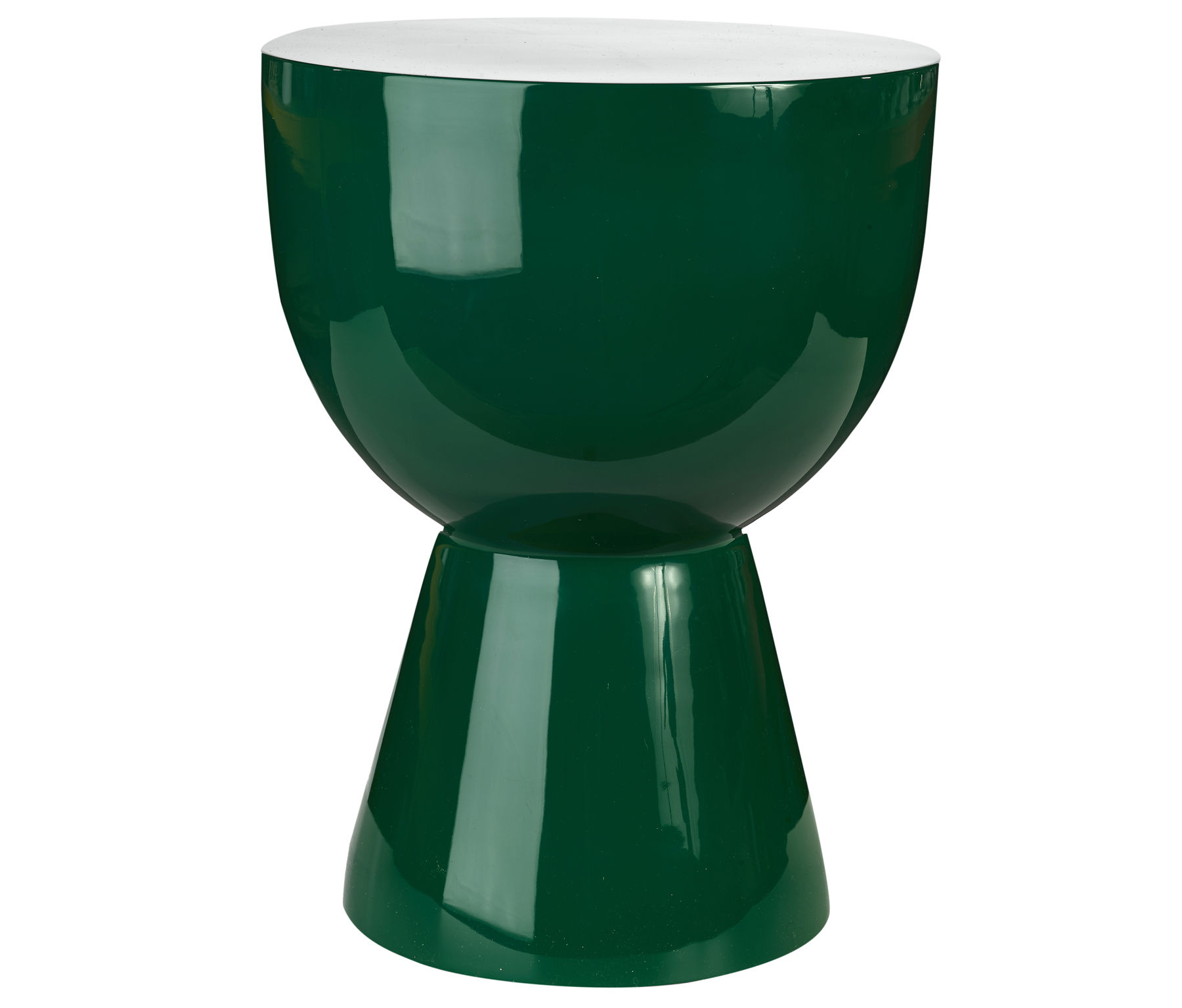 Furniture - Coffee Tables - Tam Tam Stool - Coffee table - Plastic by Pols Potten - Emerald green - Polyester