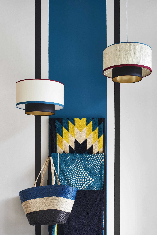 suspension bianca coton 38 cm ecru biais rouge bleu noir maison sarah lavoine. Black Bedroom Furniture Sets. Home Design Ideas