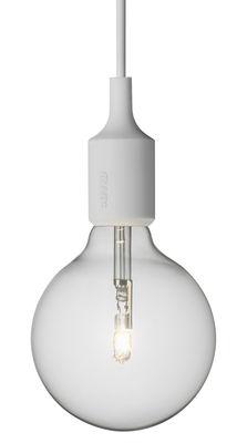 Luminaire - Suspensions - Suspension E27 - Muuto - Gris clair - Silicone