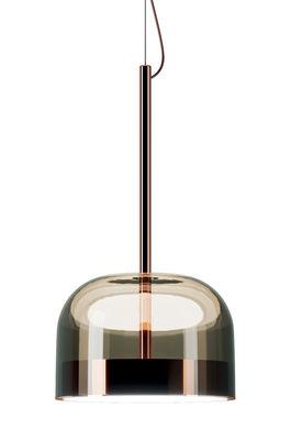 Suspension Equatore Large / LED - Verre - Ø 36 cm - Fontana Arte marron/cuivre en métal/verre