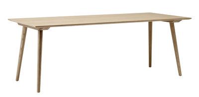 Table rectangulaire In Between / 90 x 200 cm - Chêne - &tradition chêne blanchi en bois