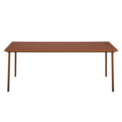Jardin - Tables de jardin - Table rectangulaire Patio / Inox - 240 x 100 cm - Tolix - Rouille Fauve - Acier inoxydable