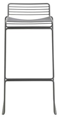 Mobilier - Tabourets de bar - Tabouret de bar Hee / H 75 cm - Métal - Hay - Gris - Acier laqué