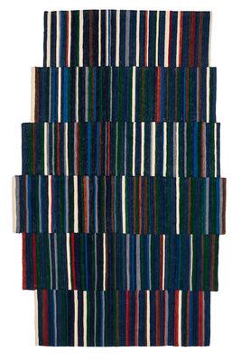 Interni - Tappeti - Tappeto Lattice 1 / 185 X 300 cm - Nanimarquina - Tonalità blu / Multicolore - Lana afghana