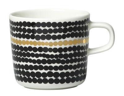 Arts de la table - Tasses et mugs - Tasse à café Siirtolapuutarha / Edition 10ème anniversaire - Marimekko - Siirtolapuutarha / Or, noir & blanc - Grès