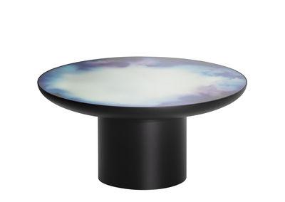 Arredamento - Tavolini  - Tavolino Francis Large - / Ø 75 x H 36 cm - Specchio di Petite Friture - Nero / Specchio colorato - Acciaio verniciato, Vetro Securit colorato
