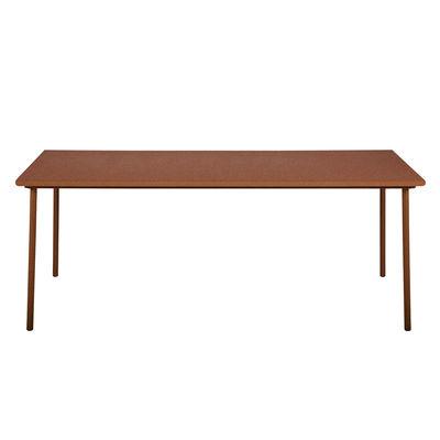 Outdoor - Tavoli  - Tavolo rettangolare Patio - / Inox - 240 x 100 cm di Tolix - Ruggine Fulvo - Acciaio inossidabile