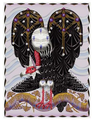 Dekoration - Teppiche - Vulture Teppich / 400 x 300 cm - Moooi Carpets - Mehrfarbig - Polyamid