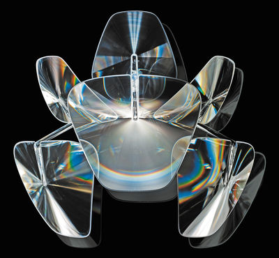 Leuchten - Wandleuchten - Hope Wandleuchte - Luceplan - Transparent - L 46 cm - polierter rostfreier Stahl, Polykarbonat