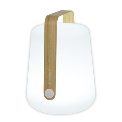 Lighting - Table Lamps - Balad Bamboo Wireless lamp - / H 38 cm - USB charging by Fermob - Bamboo - Bamboo, Polythene