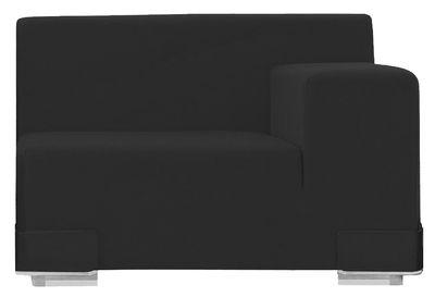 Canapé modulable Plastics / Module accoudoir gauche - L 90 cm - Kartell anthracite en matière plastique