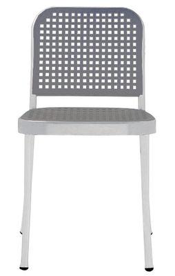 Chaise Silver Aluminium plastique De Padova gris,aluminium satiné en matière plastique
