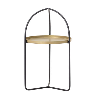 Furniture - Coffee Tables - Ins End table - / Removable top by Bloomingville - Black & gold - Iron