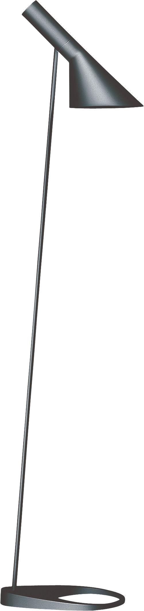 Lighting - Floor lamps - AJ Floor lamp - H 130 cm by Louis Poulsen - Grey - Cast zinc, Steel